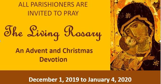 Living Rosary - Advent/Christmas Devotion image