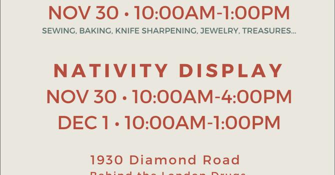 Bazaar and Nativity Display