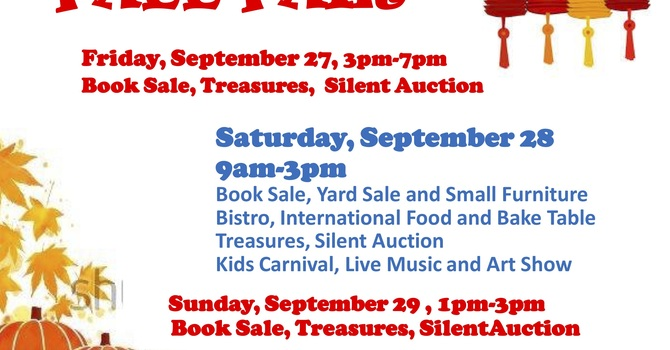 Fall Fair, Sept 27-29