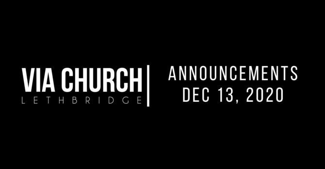 Announcements - Dec 13, 2020 image