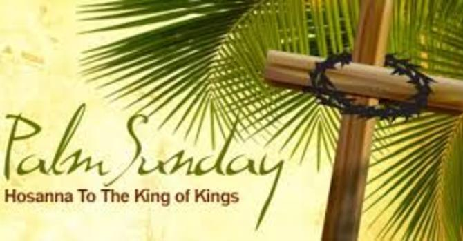 Palm Sunday- Mark 11:1-11   image