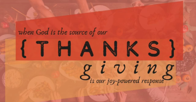 {THANKS} giving is... Willing & Cheerful