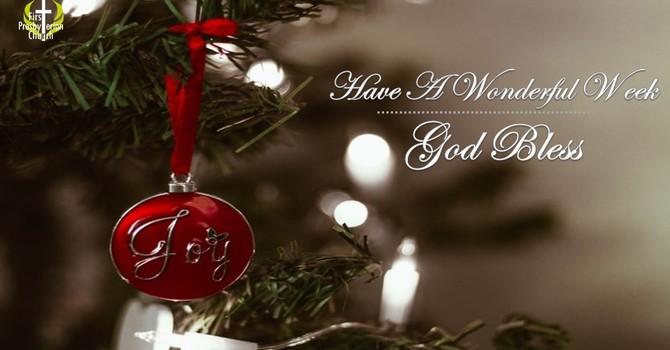 Sunday December 13 Messag