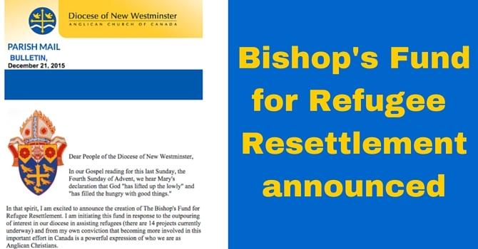 Bishop's Fund for Refugee Resettlement image