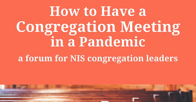 How to have a congregation meeting in a pandemic image