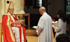 19 bishop michael completes the examination of the ordinands