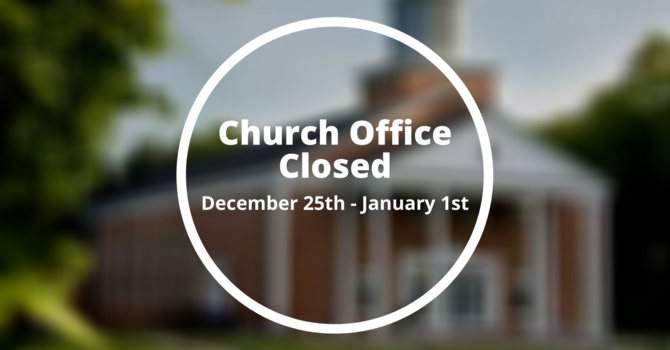 Church Office Schedule  image