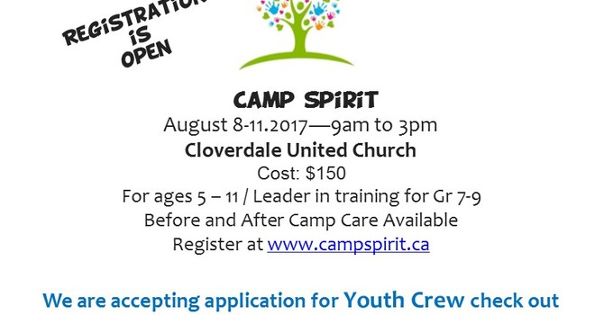 Camp Spirit Registration is Open! image