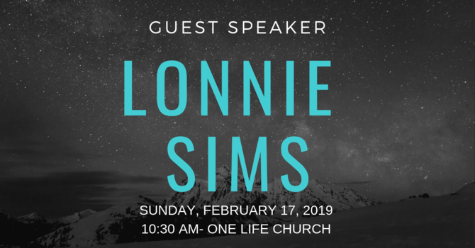 Guest Speaker- Lonnie Sims