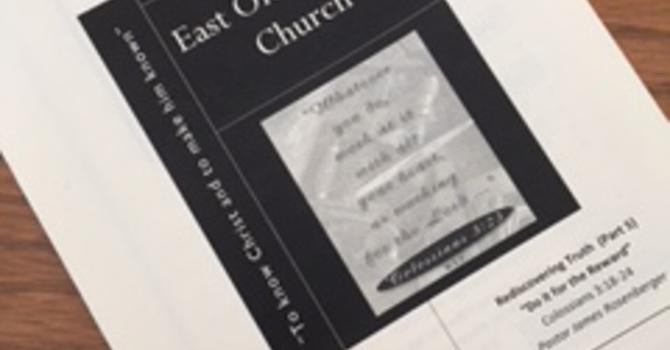 Church Bulletin for February 12, 2017 image
