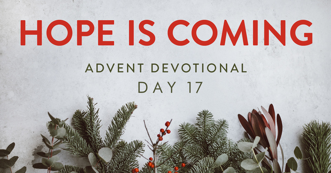 Day 17- Hope is Coming image