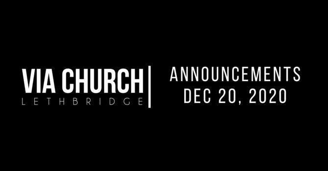Announcements - Dec 20, 2020 image