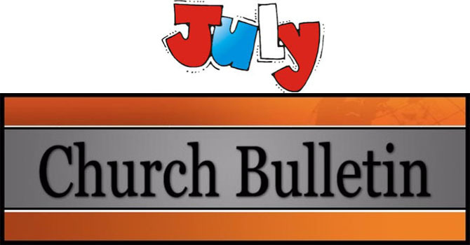 July 2018 Monthly Congregational Announcements  image