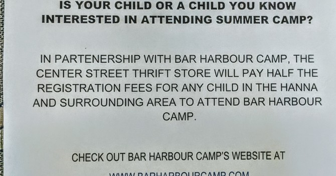 Bar Harbour Camp Registration Fee