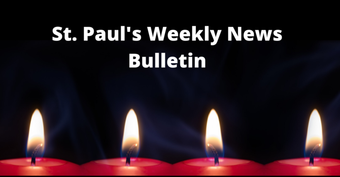 St. Paul's December 20th Weekly  News Bulletin image