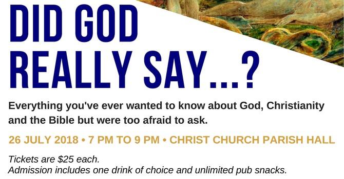 Did God Really Say...?  St. Anselm Fundraiser