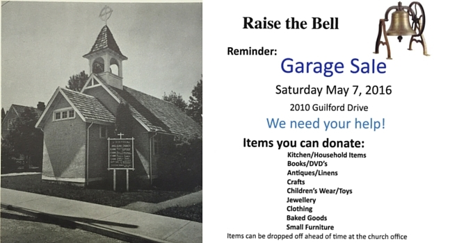 Collecting for our Garage Sale image