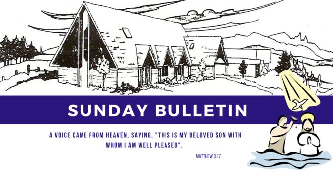 Bulletin - Sunday, January 12, 2020 image