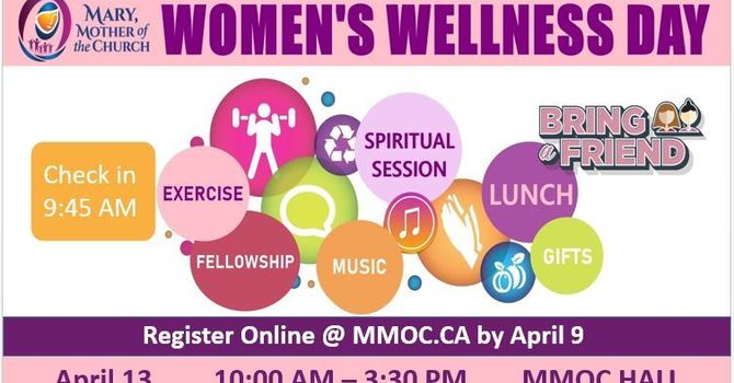 Women's Wellness Retreat - April 13, register by April 9