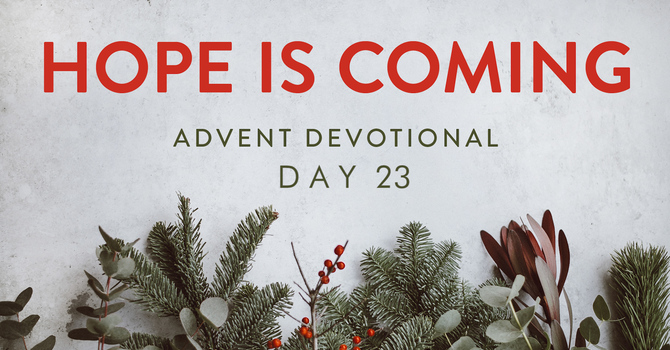 Day 23- Hope is Coming image