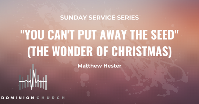 You Can't Put Away The Seed (The Wonder Of Christmas)