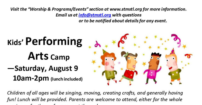 Kid's Performing Arts Camp at St Matthias and St Luke image