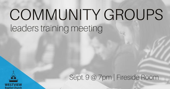 Community Groups Leader Training