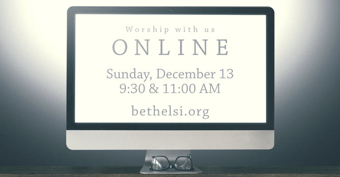 Virtual Services Only this Sunday, December 13 image