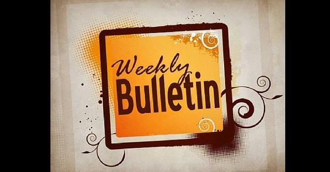 Weekly Bulletin | Sunday, December 27, 2015 image