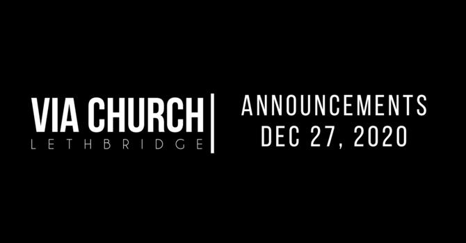 Announcements - Dec 27, 2020 image