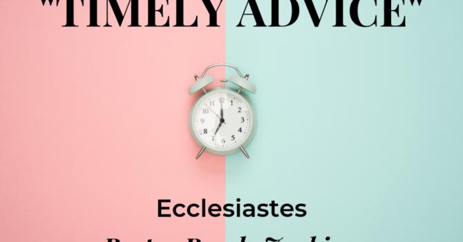 Timely Advice
