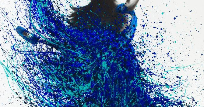 Art and Soul for Lent Day 14 - Water Dance image