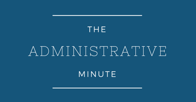The Admin Minute - Pastoral Structure image