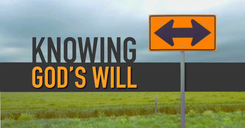 Discovering the will of god