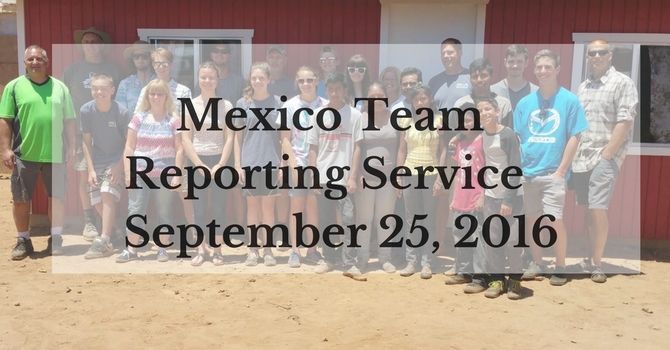 Mexico Missions Reporting Service 2016