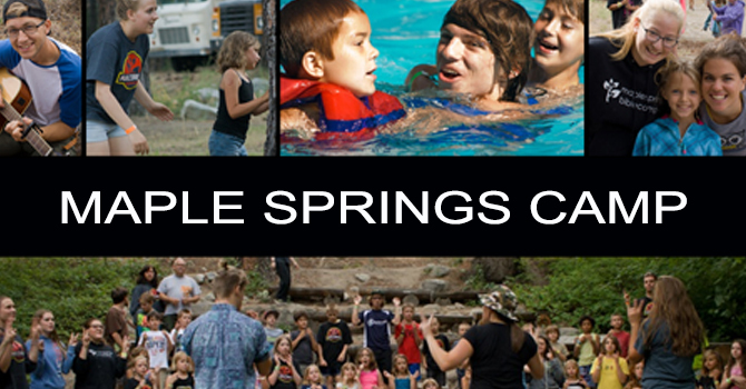 Maple Springs Bible Camp-Cabin Leaders Needed! image