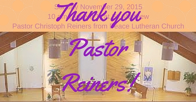 Pastor Reiners helps lead Eucharist. image
