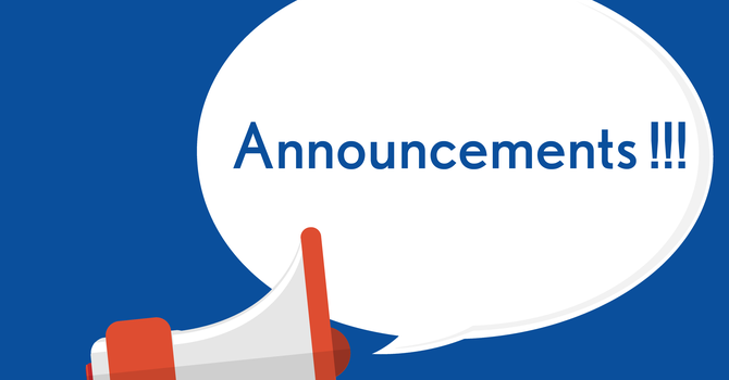 Announcements 03/11/18 image
