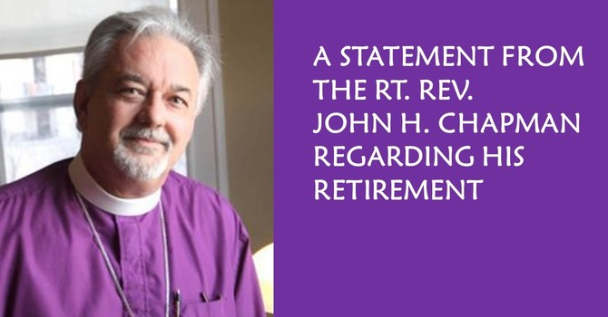 The Rt. Rev. John CHAPMAN to Retire April 2020 image