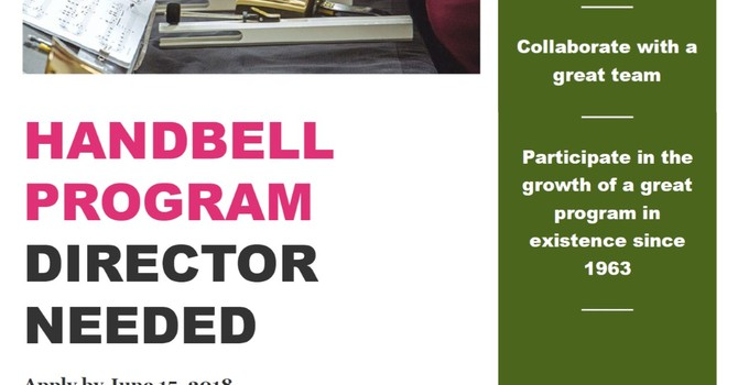 Handbell Program Director Needed image