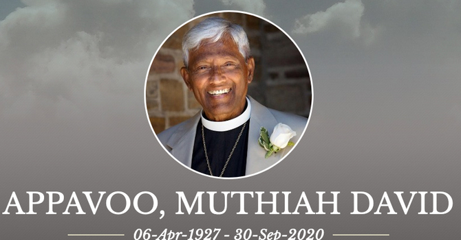 The Reverend Muthiah David Appavoo