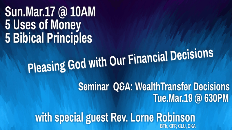 Pleasing God with Our Financial Decisions