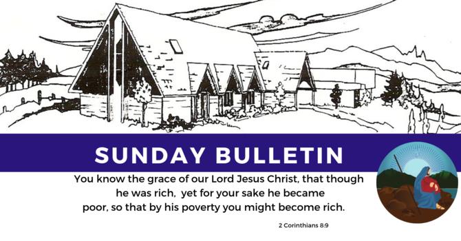 Bulletin - Sunday, September 29, 2019