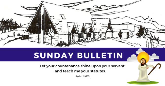 Bulletin - Sunday, September 8, 2019