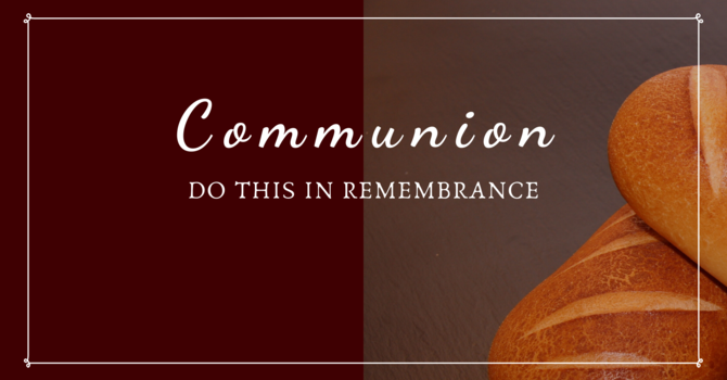 Communion & New Year Blessing