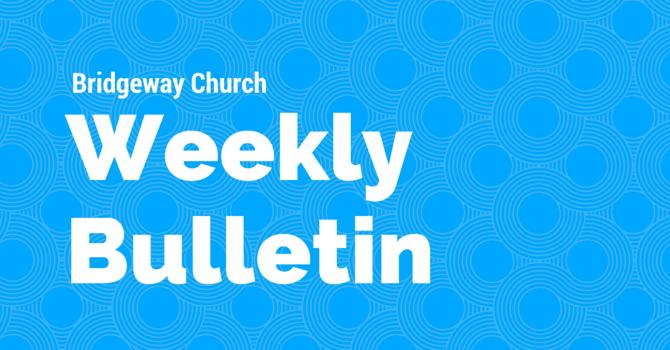 Bulletin - April 1, 2018 image