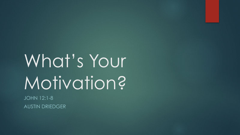 Whats Your Motivation