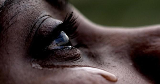 Tears....  Real tears. image