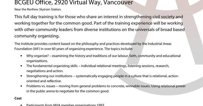 MVA Leadership Institute Training Day