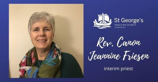 Welcome Jeannine, interim priest! image